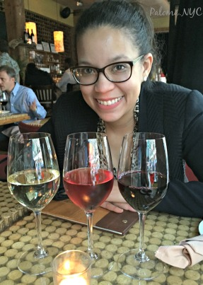 My flight of three wines at City Winery. The selection pictured was: SoHovignon Blanc 2014, Rosé 2014 of Pinot Noir & Petite Sirah 2013.